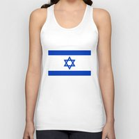 israel Tank Tops featuring The National flag of the State of Israel by Bruce Stanfield