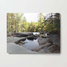 Natural infinity pool - White Mountains Metal Print