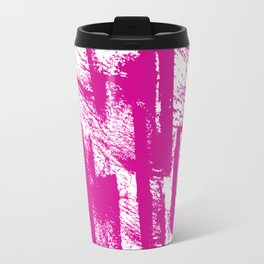 Hand painted  pink watercolor brushtrokes splatters pattern Travel Mug