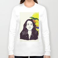 ultraviolence Long Sleeve T-shirts featuring THE ULTRAVIOLENCE GIRL by Robert Red ART