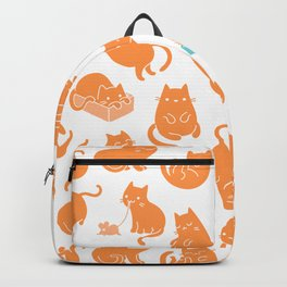 hey orange kitty Backpack