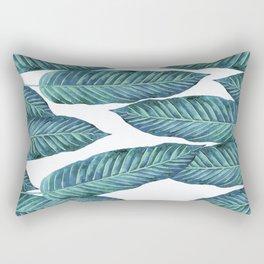 Blue Banana Leaves #society6 Rectangular Pillow