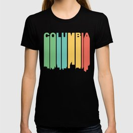 Retro 1970's Style Columbia Missouri Skyline T-shirt