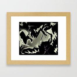 Moon Liquified Framed Art Print