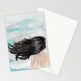 Wind in her hair Stationery Cards