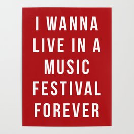 Live Music Festival Quote Poster