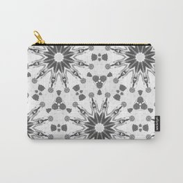 Black and White pinwheels Carry-All Pouch