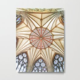 Chapter House at York Minster Metal Print