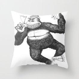 KingKongClaus Throw Pillow