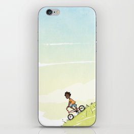 Boy on Bike iPhone Skin