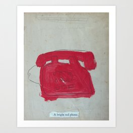 A Bright Red Phone Art Print