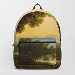 Italian Pastoral Landscape by Jakob Philipp Hackert Backpack
