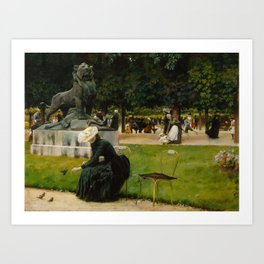 In the Luxembourg (Garden) by Charles Courtney Curran, 1889. Art Print