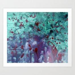 Blue Tie-Dye Art Print