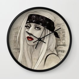 New York Woman born to run you down Wall Clock