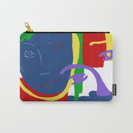 Abstract Painting Female Face Carry-All Pouch