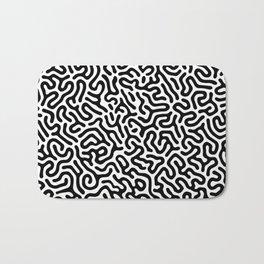 Black and White Organic MAZE Pattern Bath Mat