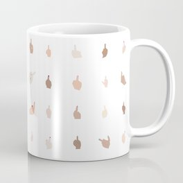Middle Fingers With Colored Nails Coffee Mug