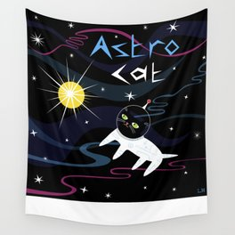 Astro Cat Wall Tapestry