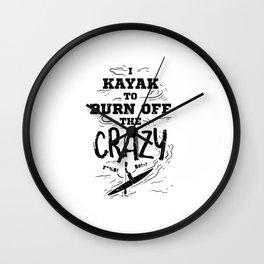 Kayak Kayaking Wall Clock