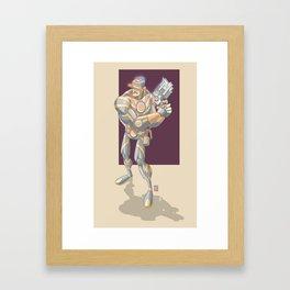 Intergalactic Officer Framed Art Print