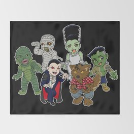 Universal Monsters Throw Blanket