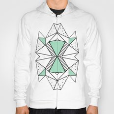 Ab Lines and Spots Mint Hoody