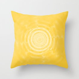 Ripples_Yellow Throw Pillow