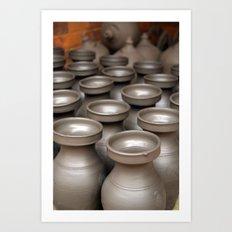 Drying Pots Bhakatpur Art Print