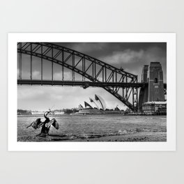 Bridge's, Bird's and Opera Houses Art Print