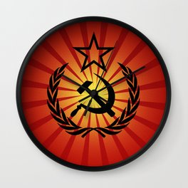 Sunny Hammer and Sickle Wall Clock