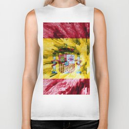 Extruded Flag of Spain Biker Tank
