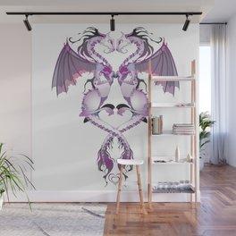 Purple Love Dragons Wall Mural
