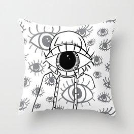 Eye Am Eye Am Eye Am Throw Pillow
