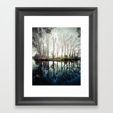 A bend in the river Framed Art Print