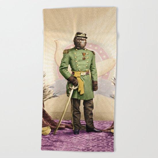 General Simian of the Glorious Banana Republic Beach Towel