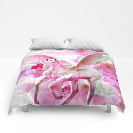 HORSE PINK FANTASY CHERRY BLOSSOMS Comforters