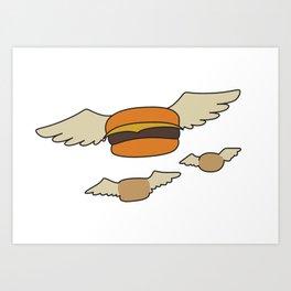 Bob's Burgers Flying Hamburgers T-shirt Art Print