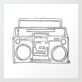 ghettoblaster Art Print