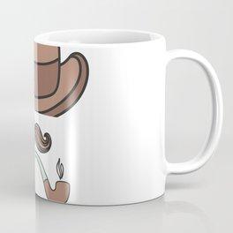 Englishman, pipe, Mustache, hat  , Classy, stylsh Coffee Mug