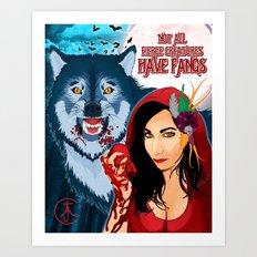 Not All Fierce Creatures Have Fangs Art Print