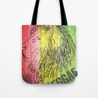reggae Tote Bags featuring Reggae Lions by Teo Designs