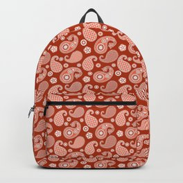 Paisley Pattern, Mandarin and Coral Orange Backpack