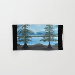 Moonlight On The Trace with border Hand & Bath Towel