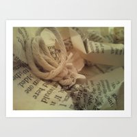 literature Art Prints featuring Literature 1 by Genevieve Moye