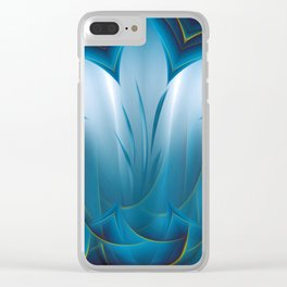 Color Meditation - Blue  Clear iPhone Case