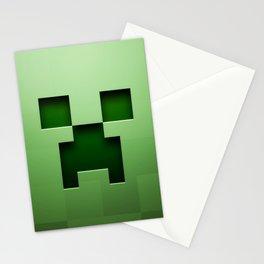 Mine craft face Stationery Cards