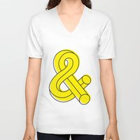 ampersand V-neck T-shirts featuring Ampersand by MADEYOUL__K