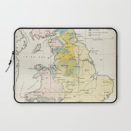 Vintage Map of the Coal Fields of Great Britain Laptop Sleeve