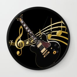 Guitar Music Wall Clock